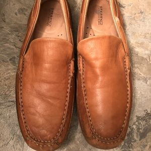 Light Brown Sperry Leather Loafers